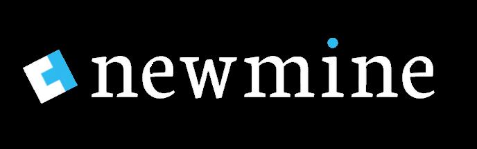 Newmine logo white